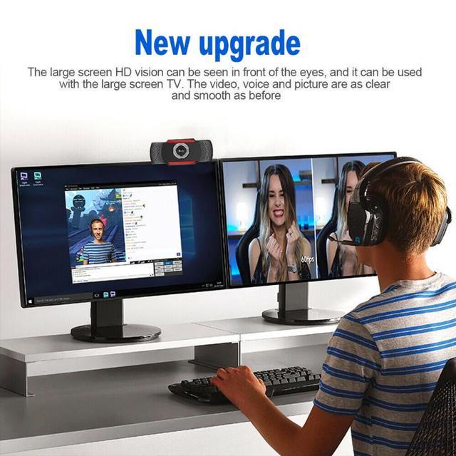 USB Computer Webcam Full HD 1080P Webcam Camera Digital Web Cam With Micphone For Laptop Desktop PC Tablet Rotatable Camera 6