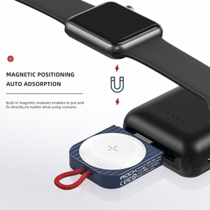 Image 3 - Magnetic Wireless Charger for Apple Watch Series 5 4 3 Portable 100% ROCK Qi Wireless USB 2.5W Charging Dock for iWatch 애플워치 충전기