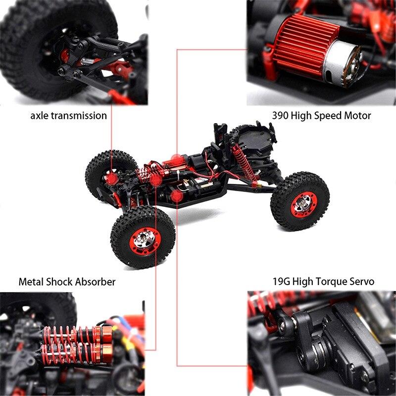 KW C04 радиоуправляемые машины 1/12 4WD 2,4G 4CH гоночный автомобиль Высокая скорость пересечение автомобиль внедорожный гонщик 4 колеса автомобиля игрушки - 5