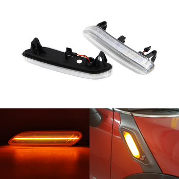 Clear Smoke Fits For Mini Cooper R60 Countryman R61 Paceman Front Amber Led Side Marker Lights Turn Signal Lamp