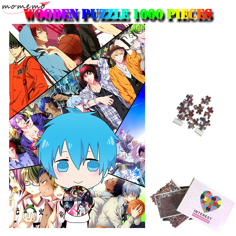 MOMEMO Kuroko's Basketball Wooden 1000 Pieces Puzzle Anime Cortoon Adults Jigsaw Puzzle Kids Children Education Puzzles Toy Gift