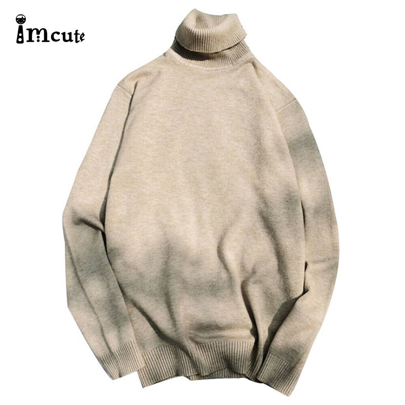 2020 Men Knitwear Male Double Collar Winter High Neck Thick Warm Sweater Slim Fit Pullover Men Turtleneck Brand Mens Sweaters