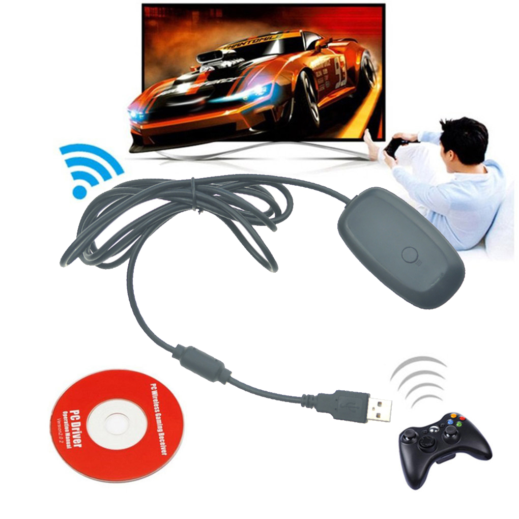 <font><b>Wireless</b></font> Gamepad Receiver <font><b>PC</b></font> <font><b>Adapter</b></font> USB Interface Game <font><b>Controller</b></font> Signal Receiver for <font><b>Xbox</b></font> <font><b>360</b></font> Gaming Accessories image