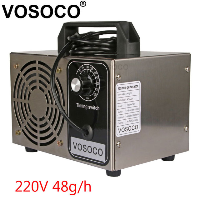 48g/h Ozone Generator timing Ozone Machine Metal Purifier Air cleaner Disinfection Sterilization Cleaning Formaldehyde 220V 32g