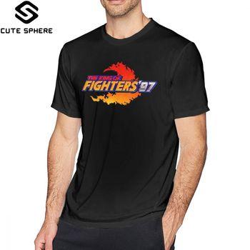 Król myśliwca T Shirt król myśliwców 97 Neo Geo tytuł ekranu koszulka męska koszulka z nadrukiem Casual niesamowite Tshirt