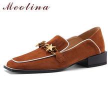 Meotina/Женская обувь замшевая для детей на низком каблуке;