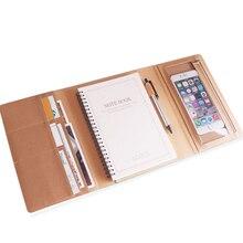 Agenda A5 Обложка для книг креативный деловой планировщик с замок для дневника блокнот офисный вкладыш Многофункциональный путешествия