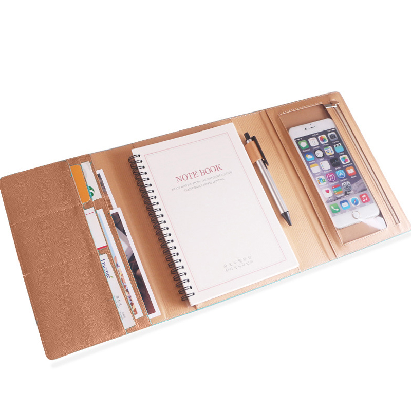 Agenda 2020 A5 Book Cover Creative Business Planner With Lock Diary Notebook Office Loose-Leaf Multi-function Travelbook Gift