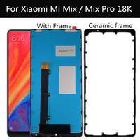 6.4 LCD For Xiaomi Mi MIX PRO 18K LCD Display Touch Screen with frame+Ceramic frame Replacement For xiaomi MI Mix LCD