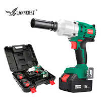 """LANNERET 18V Brushless Cordless Impact Electric Wrench 300-600N.m Torque Household Car/SUV Wheel 1/2"""" Socket Wrench Power Tool"""