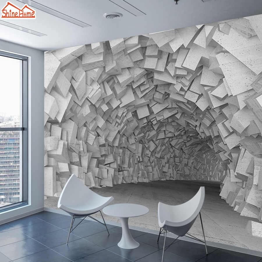 Ziegel 8d Tapete Wandbild Tapeten für Wohnzimmer Wand Papier Papiere  Wohnkultur Blöcke Innen Selbstklebende Wände Wandmalereien Rolle