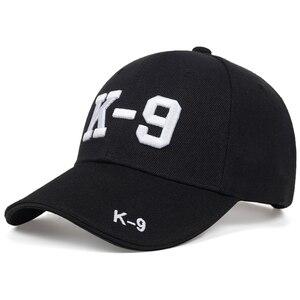 Neue K-9 brief stickerei baseball-cap frühjahr und sommer baumwolle 100% kappen männer und frauen mode hip hop hut im freien sonne hüte