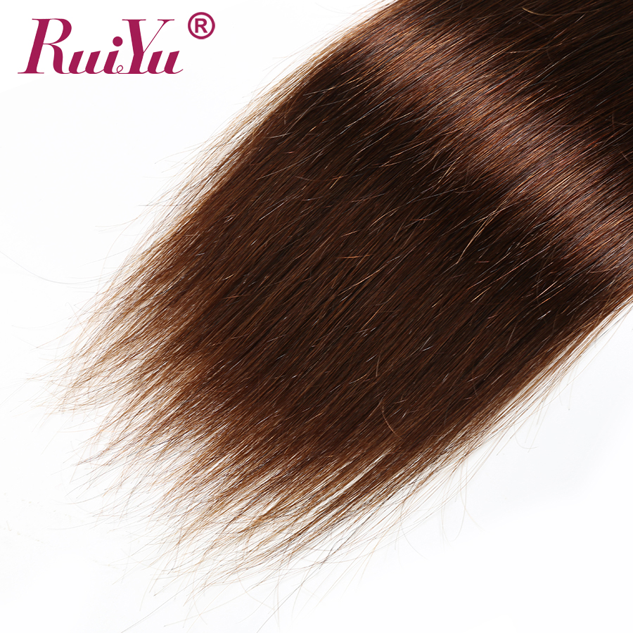 Hde7413003a51443c8aad2096698e0619S Human Hair Brown Bundles With Closure Brazilian Straight Hair Weave Bundles With Closure Middle Ration 10- 26 Inch NonRemy RUIYU