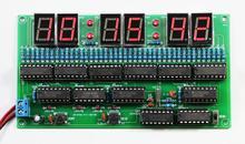 diy electronic kit set  6 bit digital circuit clock production kit Skill contest training materials