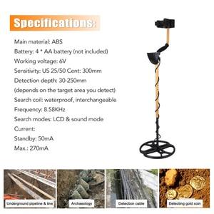 Image 5 - Detector de metais subterrâneo profissional portátil alta sensibilidade jóias ouro detector de tesouro metal localizador do parafuso prisioneiro