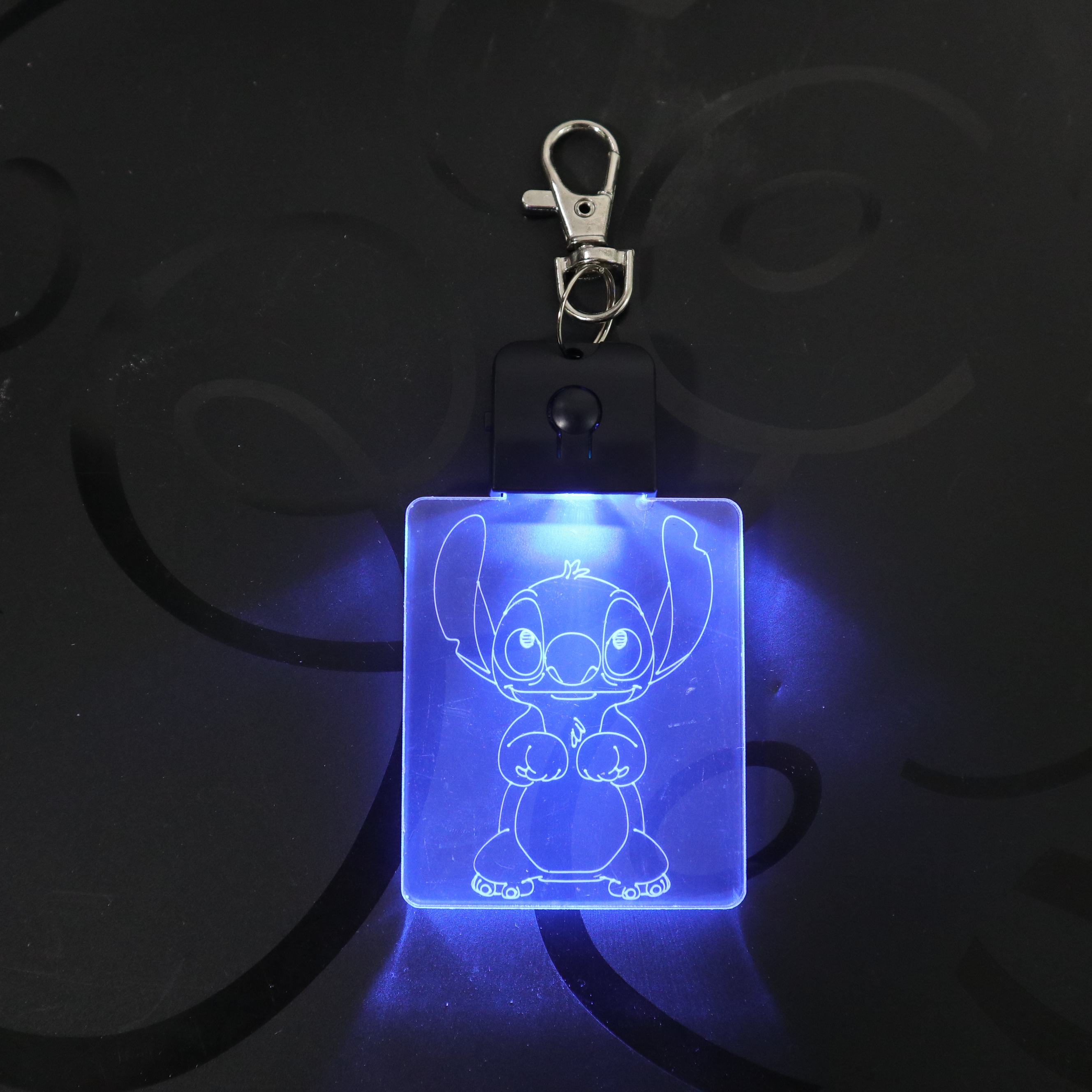 Stitch Keychain Cartoon 3D Arylic Night Light LED Magical Table Lamp Lighting Colors Decoration Gift Dropshipping