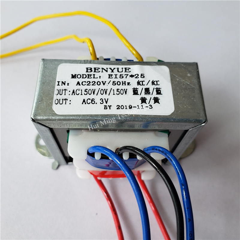 150V-0-150V 5W 6.5V <font><b>10W</b></font> 6N3 preamplifier Transformer 220V to dual 150V for pre-amp <font><b>tube</b></font> <font><b>amplifier</b></font> image