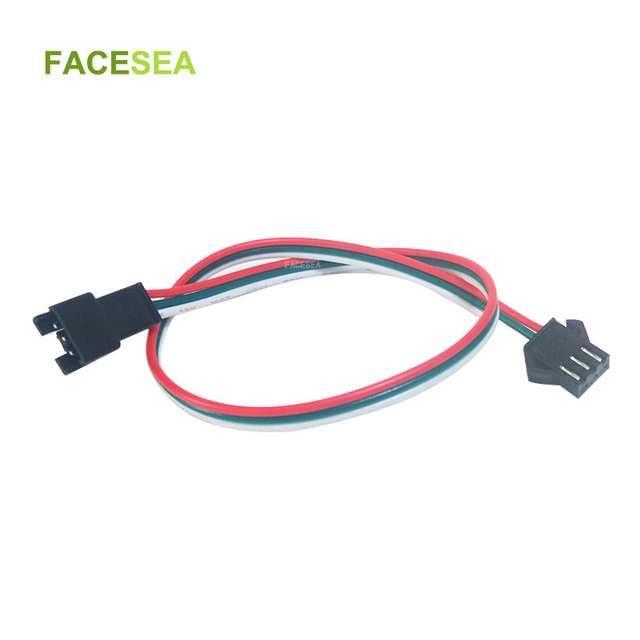 100 adet 3 pin JST SM konektörü 30cm 50cm 1m 2m Led erkek dişi fiş LED konnektör kablo tel için WS2812B WS2811 SK6812 LED şerit