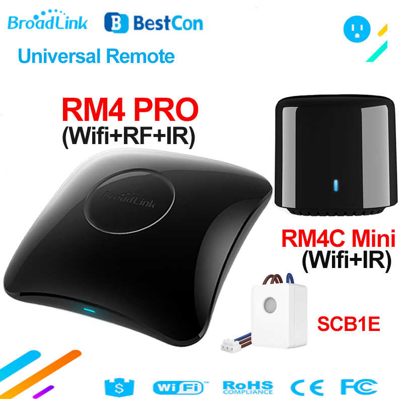 Broadlink RM4 PRO BestCon RM4C Mini SCB1E smart Home, Casa Intelligente WiFi IR RF Wireless Telecomando Universale TV Controller Funziona con Alexa