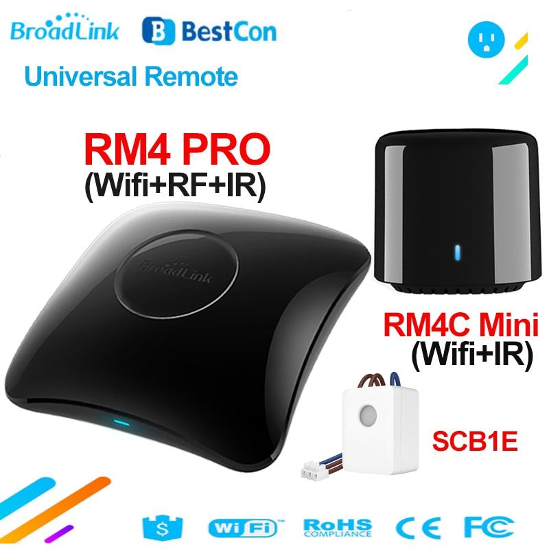 Broadlink RM4 PRO BestCon RM4C Mini SCB1E Smart Home WiFi IR RF Wireless Universal Remote Control TV Controller Works with Alexa