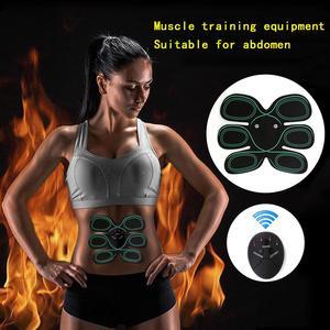 Estimulador eléctrico del músculo EMS ABS electroestimulador Abdominal masajeador eléctrico aparato de entrenamiento máquina de la aptitud de la construcción del cuerpo