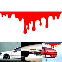 Pegatinas de sangre roja para coche, calcomanías reflectantes, calcomanías geniales para carrocería, parachoques ligero, estilismo para coche