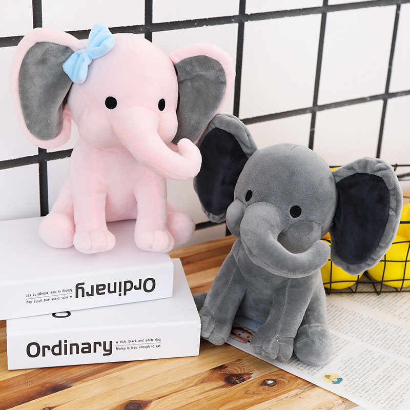 25cm Bedtime Originals Choo Choo Express Plush Toys Elephant Humphrey Soft Stuffed Animal Doll Couple Elephant Kid Birthday Gift