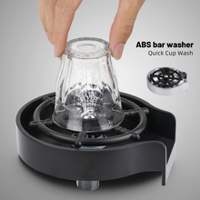 Faucet Glass Rinser for Kitchen Sink Automatic Cup Washer Bar Glass Rinser Coffee Pitcher Wash Cup Tool Kitchen Sink Accessories