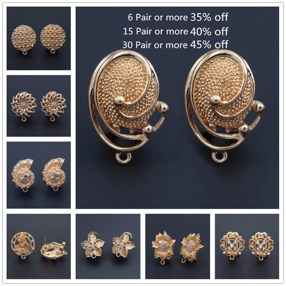 1 Pair African Women Tassel Earrings Connector Linkers Charms For Ethiopian Hanging Dangle Earrings Wedding Jewelry Set Designs