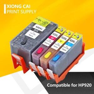 Для HP 920 многоразовые полные картриджи с чипом, совместимые с HP OfficeJet7500A 7000 6000W 6500A 6000 6500 принтер