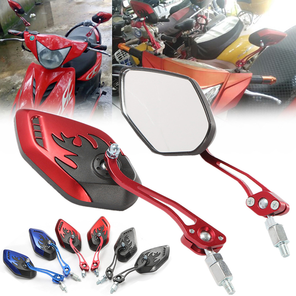 1 Pair Motorcycle Rearview Mirrors 360 Degree Rotation Universal Motorcycle Motorbike Scooter Side Mirrors Motor Accessories