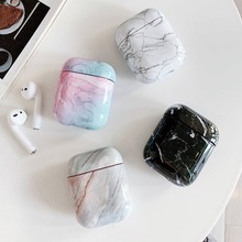 For AirPods Case colorful marble Pattern Protective Cover iPhone 7 8 6S XR Bluetooth Earphone Air pods 2 hard
