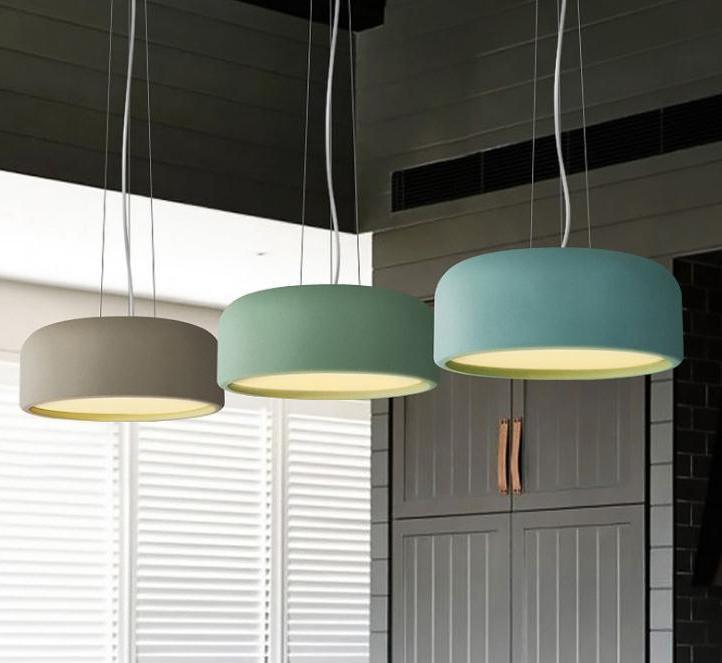 Modern Nordic Led Macarons Pendant Light Restaurant Cafe Bar Living Room Hanging Lamp Hanglamp