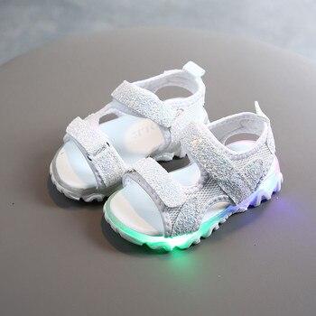 TELOTUNY sandals Children Kids Baby Girls Boys Sequins Led Light Luminous Sport Sandals Casual Shoes children sandals girls Jun6
