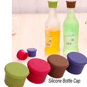 1pc Silicone Bottle Caps Beer Beverage Cover Cokes Soda Leak Free Champagne Closures Fresh Saver Stopper Kitchen Bar Accessories image