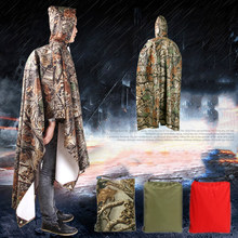 Manteau imperméable militaire 3 en 1, imperméable d'extérieur pour hommes et femmes, auvent de pluie moto, Poncho tapis de pique-nique