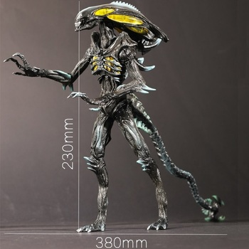 Figura de alienígenas Vs Predator, estatua de Guerrero Alien de la Marina...