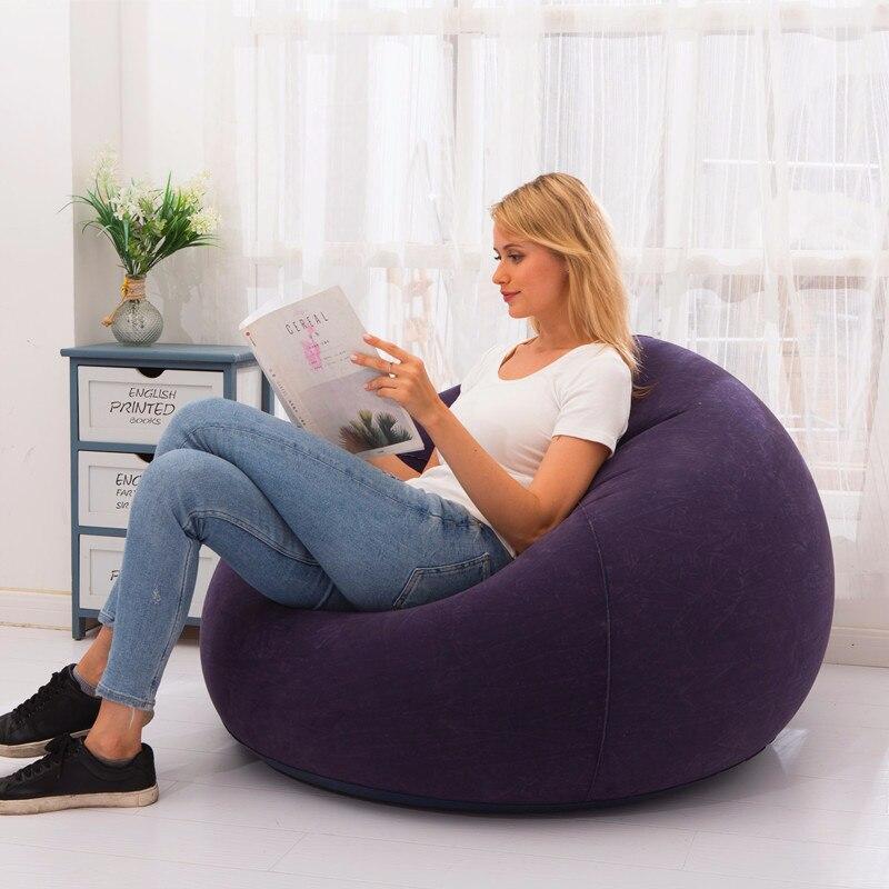 Flocking Inflatable Lazy Football Sofa Small Apartment Home Single Sofa Special Leisure Entertainment Stool Inflatable Sofa