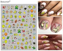 Leuke Type Nails Art Manicure Terug Lijm Decal Decoraties Nail Sticker Voor Nagels Tips Beauty(China)