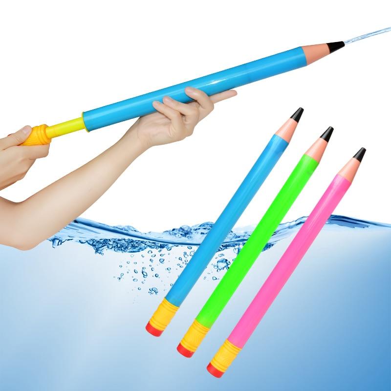 44cm Plastic Pencil Water Guns Kids Pistol Blaster Summer Swimming Pool Beach Outdoor Shooter Toy Sprinkling Toys For Children