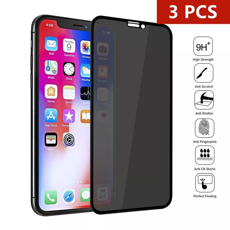 Защитное стекло HD для iPhone 12 11 Pro Max XS MAX, 3 шт., антишпионское закаленное стекло для iPhone XR, 6s, 7, 8 Plus, SE20, Защитное стекло для конфиденциальности