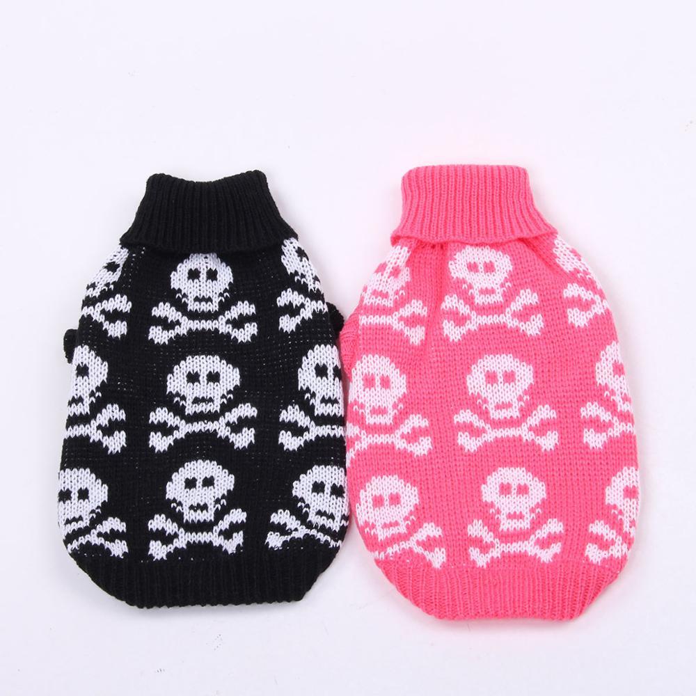 Cat Dog Sweater Jumper Skulls Jacquard Pet Puppy Coat Jacket Warm Jumper Clothes For Dogs Cats Small Medium