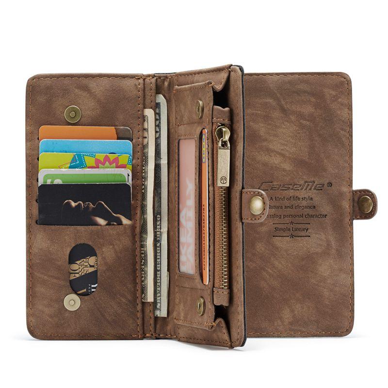 Image 5 - Bolsa wristlet caso do telefone para oneplus 7 pro coque moda de luxo couro fundas etui capa protetora acessórios escudo cartão sacoEstojos p/ carteira   -