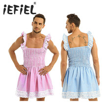Мужские и мужские экзотические платья без рукавов, с оборками, из эластичной ткани, в клеточку, с кружевной отделкой, с бантом, костюм для малышей