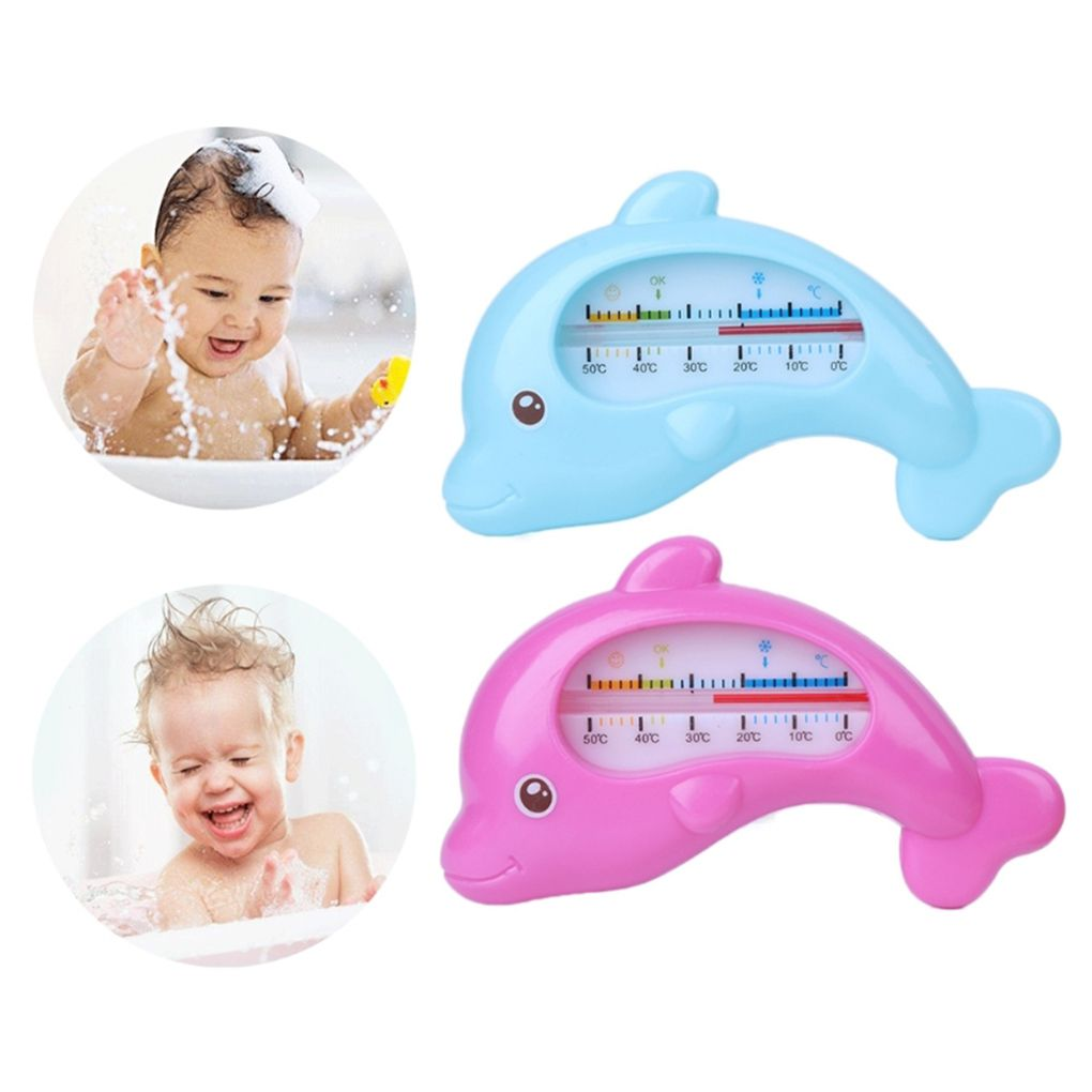 Children Shower Water Thermometer Baby Bathing Dolphin Shape Temperature Infants Toddler Water Measure Baby Bath Toy Thermometer