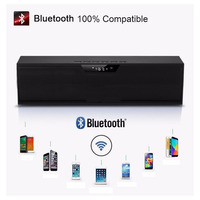 Drahtlose Bluetooth Lautsprecher FM Radio 10W Tragbare Stereo Subwoofer HiFi Lautsprecher SD Card Player Hause Smart Tragbare Subwoofer FM-in Tragbare Lautsprecher aus Verbraucherelektronik bei