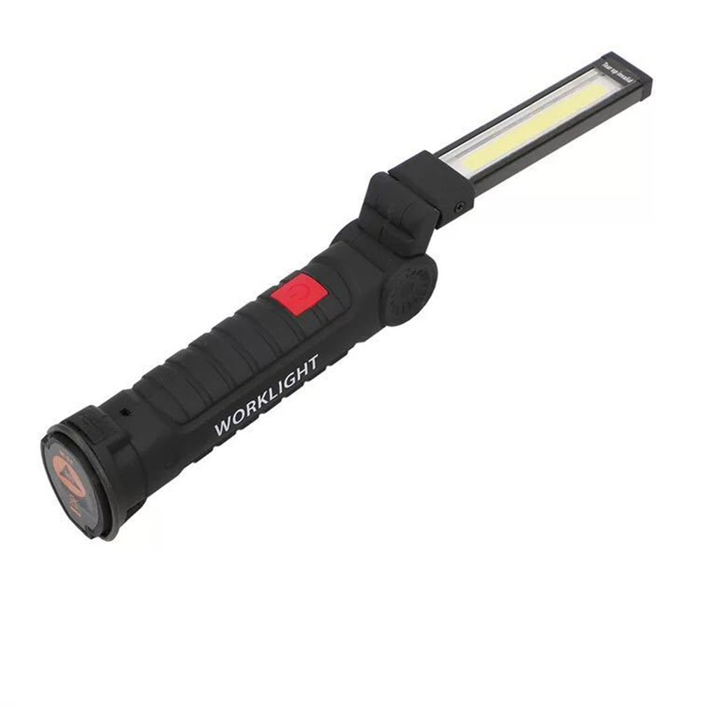 Portable USB Folding Outdoor Bright COB+LED Rechargeable Cordless Emergency Work Light Torch Flashlight Handy Inspection Lamp