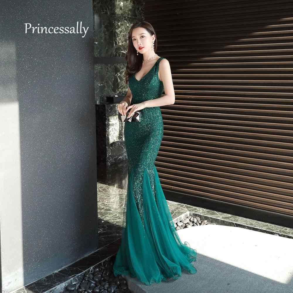 estilo actualizado estilo clásico zapatos de otoño New Elegant Prom Party Dress One Shoulder Sequin Fromal ...