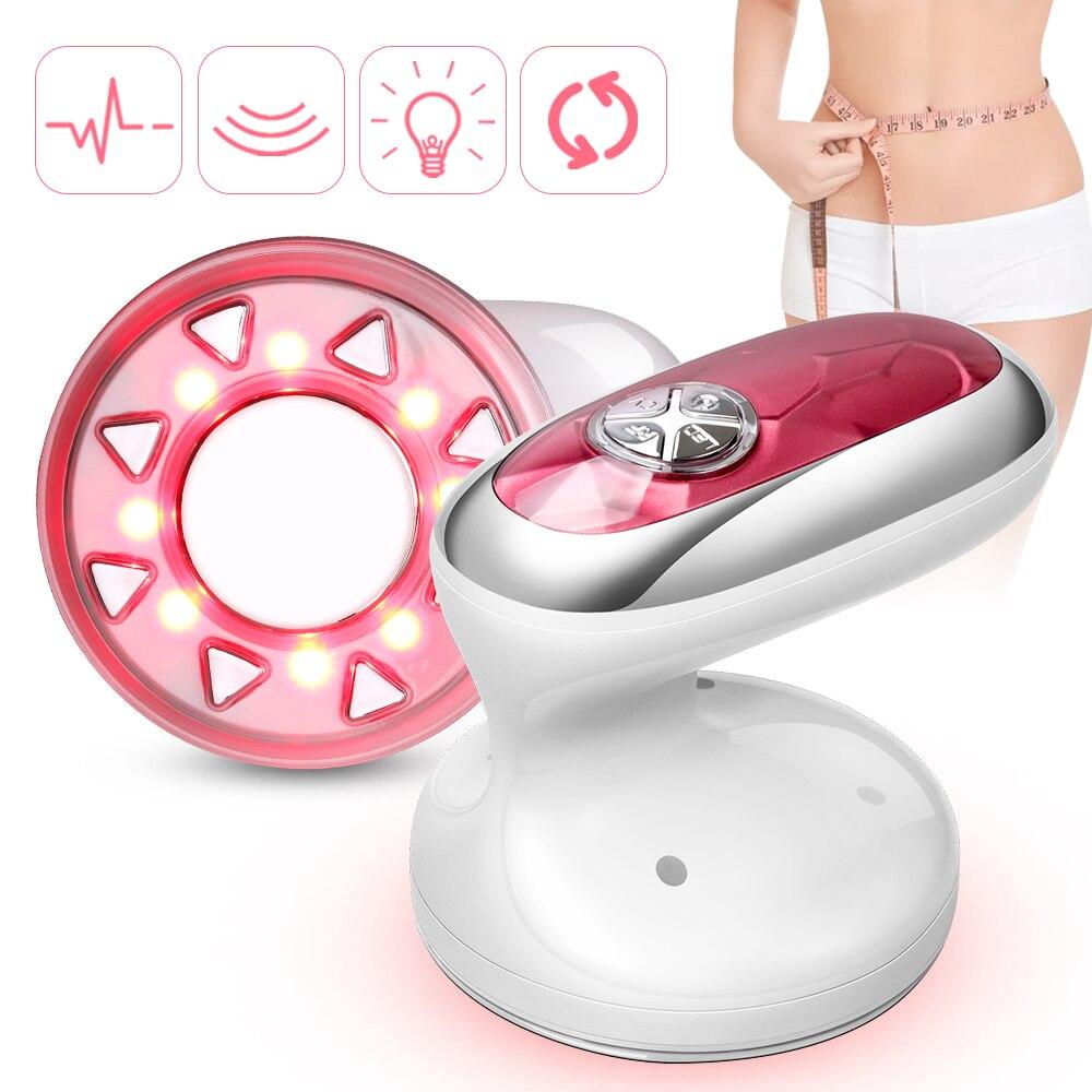 Cavitation Ultrasonic Body Slimming Massager Weight Loss Machine LED Radio Frequency Skin Lift Tighten Beauty Device