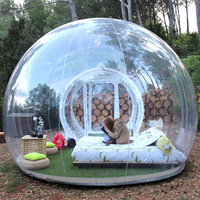 3M Außen Riesige Aufblasbare Spielzeug Blase Zelt Große DIY Haus Hause Hinterhof Camping Kabine Lodge Air Blase Transparent Zelt-in Aufblasbare Hüpfburg aus Spielzeug und Hobbys bei
